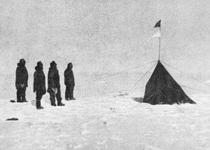 Amundsen montando chiringuito